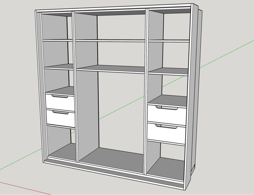 kleiderschrank selber bauen teil 1. Black Bedroom Furniture Sets. Home Design Ideas